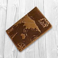 """Рыжая дизайнерская обложка для паспорта с отделом для карт, коллекция """"7 wonders of the world"""", фото 1"""
