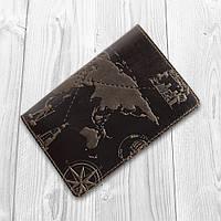 "Обложка для паспорта HiArt PC-02 Shabby Gavana Brown ""7 wonders of the world"", фото 1"