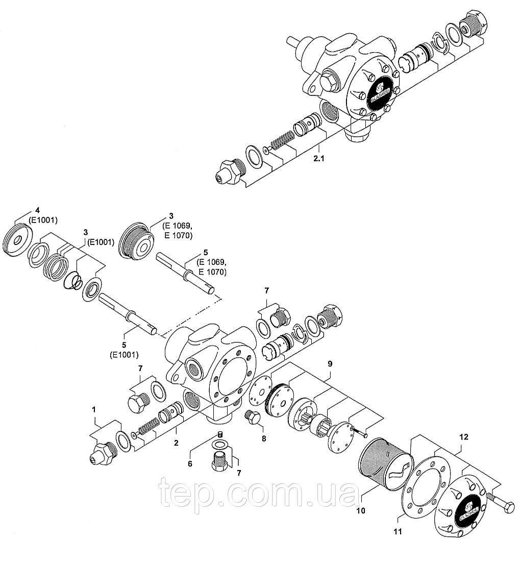 Запасні частини до насосів Suntec E 1001 E1069/1070