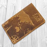 """Рыжая дизайнерская обложка для паспорта с отделом для ID документов, коллекция """"7 wonders of the world"""", фото 1"""