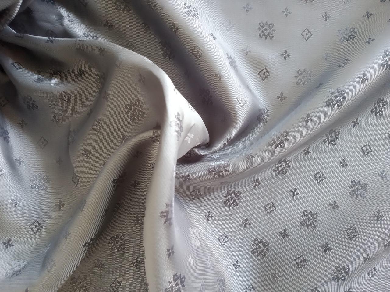 Підкладка віскоза з жакардовим візерунком, ширина 150см колір сірий