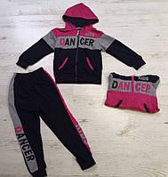 Трикотажный костюм-двойка для девочек Crossfire оптом, 4-12 лет. {есть:10 лет ,12 лет ,4 года,6 лет ,8 лет }