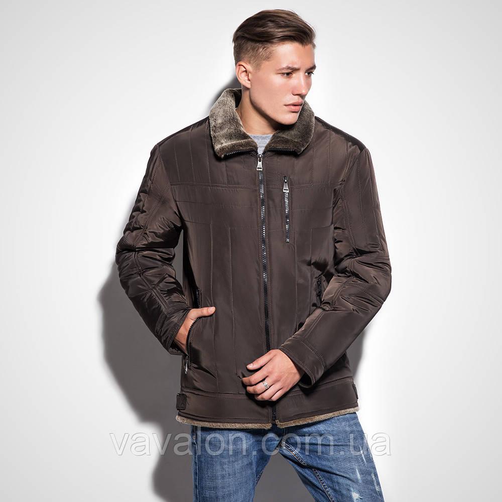 Зимняя мужская куртка(стиль классик)