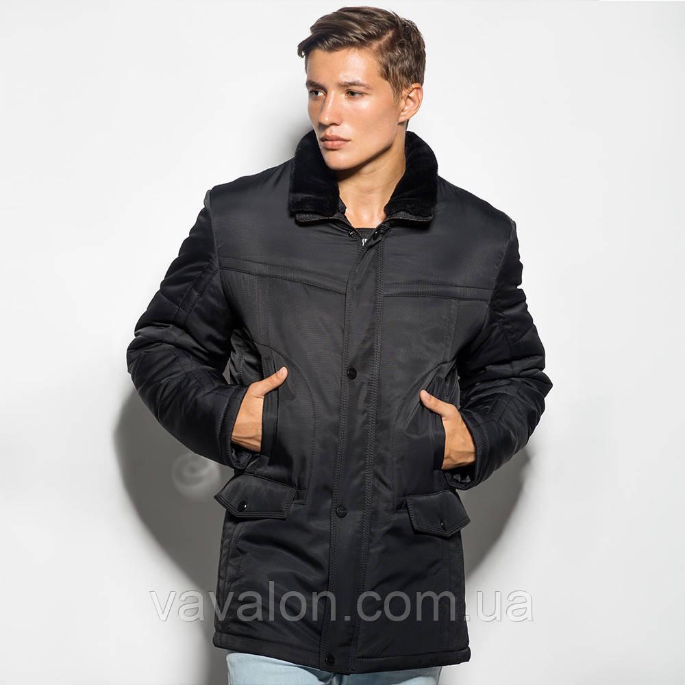 Удлиненная мужская куртка (стиль классик)