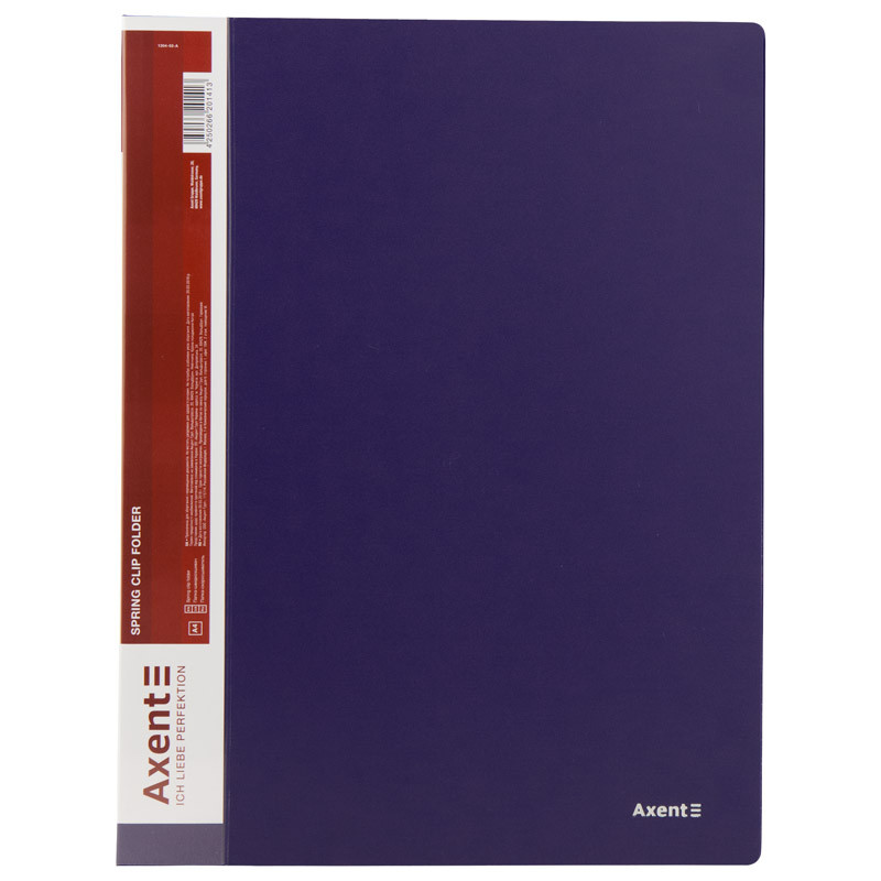 Папка-швидкозшивач А4, синя