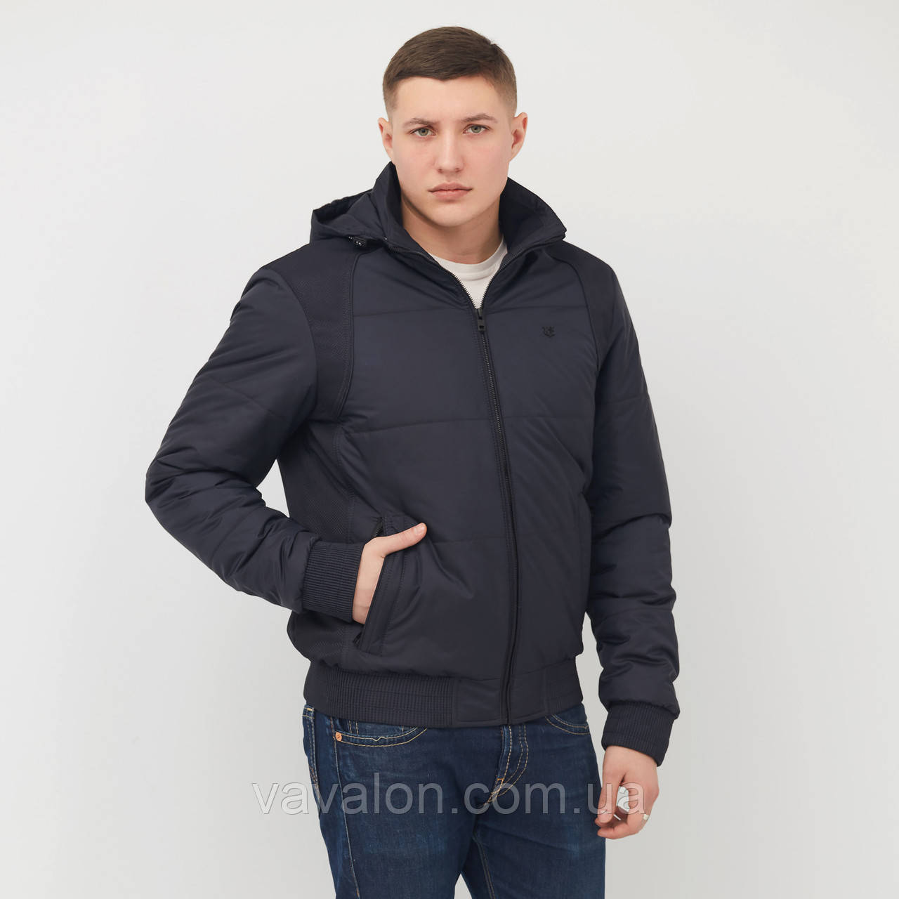 Куртка демисезонная под резинку Vavalon KD-182 navy