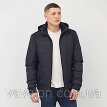 Куртка демисезонная под резинку Vavalon KD-182 navy, фото 2