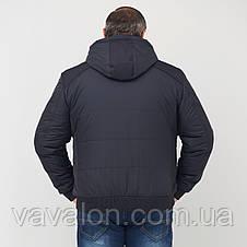 Куртка демисезонная под резинку Vavalon KD-182 B navy, фото 3