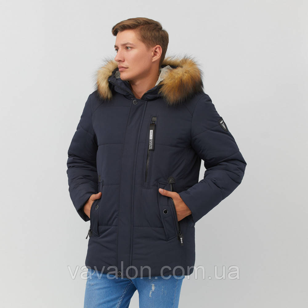 Зимняя мужская куртка Vavalon KZ-251 navy