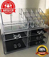 Акриловый органайзер для косметики с 5 ящиками Cosmetic Storage Box настольная косметичка, бокс для косметик