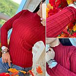 Женский стильный гольф-лапша с воротником-стойка (в расцветках), фото 3