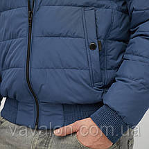 Куртка демисезонная под резинку Vavalon KD-193 ink-blue, фото 3