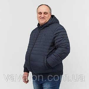 Куртка демисезонная под резинку Vavalon KD-B193 navy, фото 2