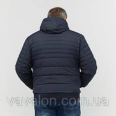Куртка демисезонная под резинку Vavalon KD-B193 navy, фото 3