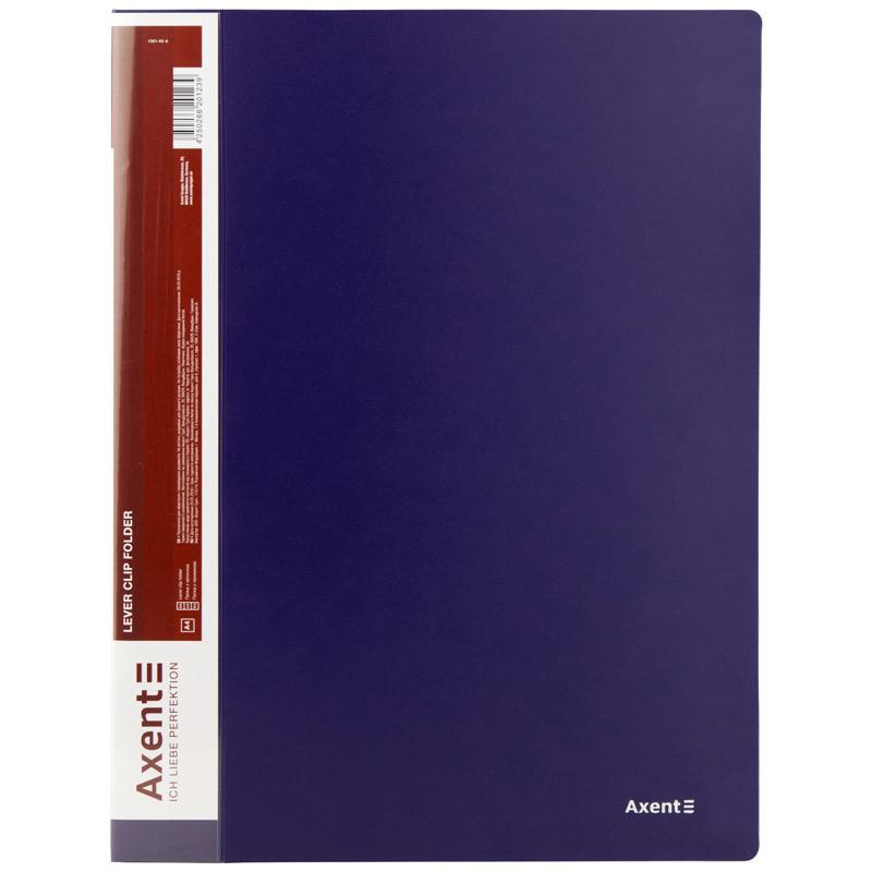 Папка з затиском, А4, синя