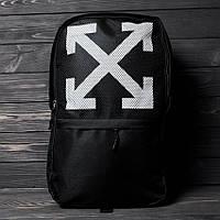 Спортивный рюкзак OFF-WHITE, практичный портфель на каждый день, цвет черный