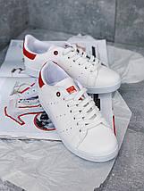 Женские кроссовки Adidas Stan Smith Red женская обувь кроссовки адидас стен смит белые с красным., фото 2