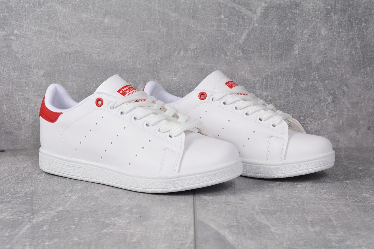 Женские кроссовки Adidas Stan Smith Red женская обувь кроссовки адидас стен смит белые с красным.