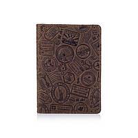 "Обложка для паспорта HiArt PC-01 Shabby Olive ""Let's Go Travel"", фото 1"