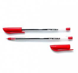 Ручка шариковая Flair 873 красная 007 Ultra прозрачная