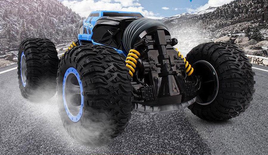 Трюковый BigFoot Rock Crawler на р/у, 34 см, UD2169A | Масштаб 1:18 | Синего цвета