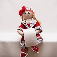 Каркасная кукла для туалетной бумаги.