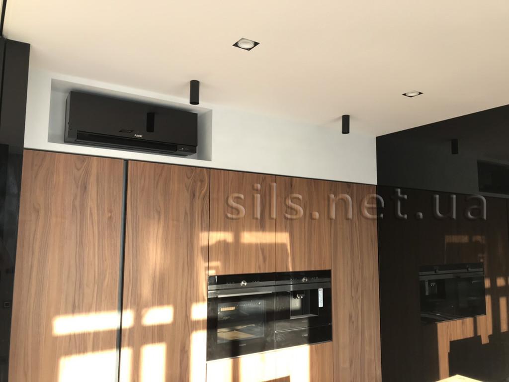 Установка дизайнерской серии Mitsubishi Electric серии Design Inverter в г.Киев.