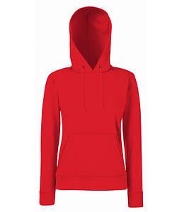 Женская толстовка с капюшоном XS, 40 Красный