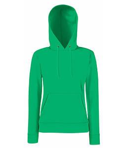 Женская толстовка с капюшоном XS, 47 Ярко-Зеленый