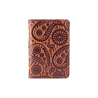 """Универсальная янтарная кожаная обложка-органайзер для ID паспорта / карт, коллекция """"Buta Art"""", фото 1"""