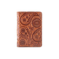 """Дизайнерская обложка-органайзер для ID паспорта и других документов с глянцевой кожи цвета глины, коллекция """"Buta Art"""", фото 1"""
