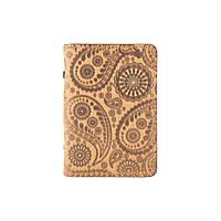 """Дизайнерская кожаная обложка-органайзер для ID паспорта / карт, светло желтого цвета, коллекция """"Buta Art"""", фото 1"""
