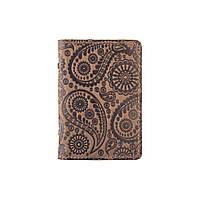 Дизайнерская обложка-органайзер для документов ( ID паспорт ) с кожи оливкового цвета, фото 1