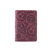 """Дизайнерская кожаная обложка-органайзер для ID паспорта и других документов фиолетового цвета, коллекция """"Buta Art"""", фото 1"""