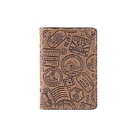 """Обложка-органайзер для документов ( ID паспорт ) / карт Hi Art AD-03 Shabby Olive """"Let's Go Travel"""", фото 1"""