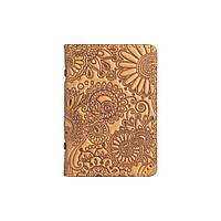 """Дизайнерская кожаная обложка-органайзер для ID паспорта / карт, светло желтого цвета, коллекция """"Mehendi Art"""", фото 1"""