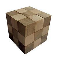 Деревянная головоломка Круть Верть Куб 6х6х6 см nevg-0038, КОД: 119467