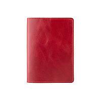 Красная кожаная обложка для паспорта, фото 1