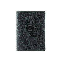"""Красивая зеленая обложка для паспорта с художественным тиснением """"Buta Art"""", фото 1"""
