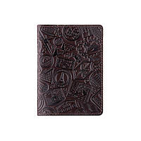 "Обложка для паспорта PC-01 PC-01 Crystal Brown Silk ""Let's Go Travel"", фото 1"