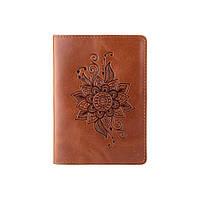 """Обложка для паспорта ручной работы цвета глины, коллекция """"Mehendi Classic"""", фото 1"""