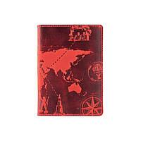 "Обложка для паспорта HiArt PC-02 Shabby Red Berry ""7 wonders of the world"", фото 1"