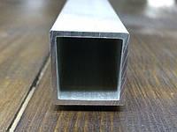 Труба алюминиевая квадратная  25х25х1.5  анод, фото 1