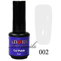 Гель-лак Adore Professional № 002 (белый), 9 мл