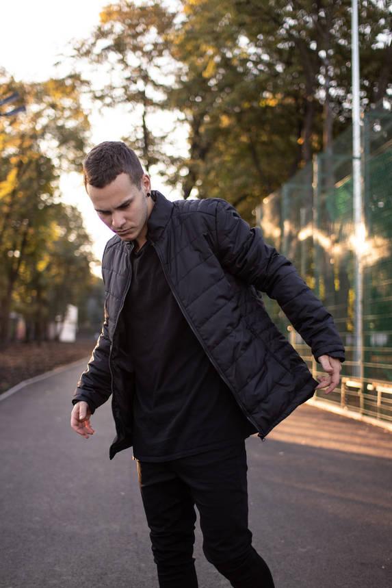 Мужская теплая черная куртка  (Весна - Осень), фото 2