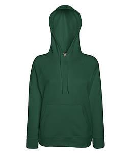 Жіноча кофта з капюшоном XS, 38 Темно-Зелений