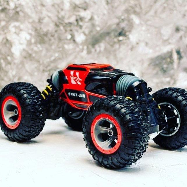 Трюковый BigFoot Rock Crawler на р/у, 34 см, UD2169A   Масштаб 1:18   Красного цвета