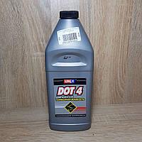 Жидкость тормозная DOT-4 1 л (пр-во UNIX, г.Дзержинск)