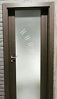 """Двери Verto Элегант 5 Триплекс черный  цвет Кора береза """"Verto-LINE 3D"""", фото 1"""