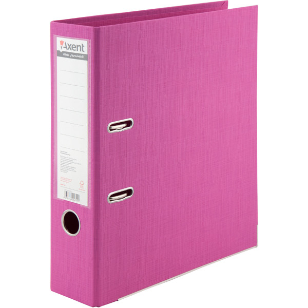Папка-реєстратор А 4, 7,5см Axent Prestige рожева двостор.